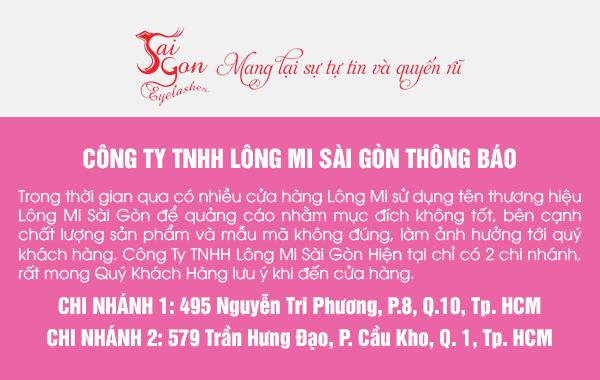 Thông báo chi nhánh Lông Mi Sài gòn